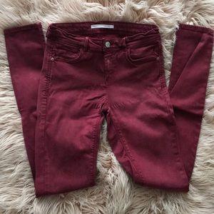 Zara burgundy skinny pants